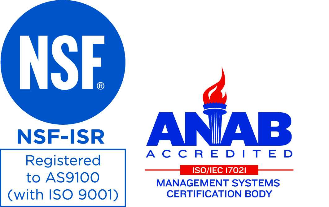 NSF Logo and ANAB Logo